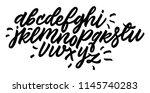 handwritten script alphabet... | Shutterstock .eps vector #1145740283