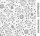 weather background. sky... | Shutterstock .eps vector #1145740820
