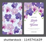 floral frame with tropical... | Shutterstock .eps vector #1145741639