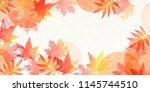 autumn leaves autumn background | Shutterstock .eps vector #1145744510