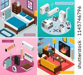 smart home climate concept 4... | Shutterstock .eps vector #1145746796