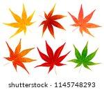 autumn leaves autumn icon | Shutterstock .eps vector #1145748293