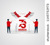 indonesia independence day... | Shutterstock .eps vector #1145752973