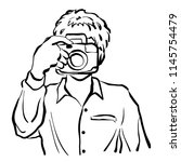 man taking photo vector... | Shutterstock .eps vector #1145754479