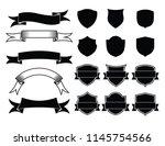 ribbon and emblem element... | Shutterstock .eps vector #1145754566