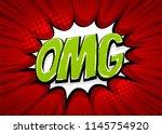 omg comic text speech bubble....   Shutterstock .eps vector #1145754920