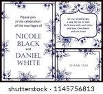 vintage delicate greeting... | Shutterstock .eps vector #1145756813