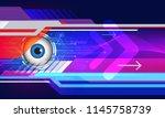 modern futuristic eye icon... | Shutterstock .eps vector #1145758739