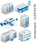 building icon set | Shutterstock .eps vector #114576178