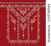 tribal ethnic texture. aztec... | Shutterstock . vector #1145766566