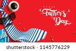 happy father s day greeting... | Shutterstock .eps vector #1145776229