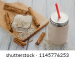 horchata is a drink made with...   Shutterstock . vector #1145776253