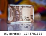 indian currency notes of rupees ... | Shutterstock . vector #1145781893