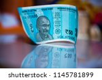 indian currency notes of rupees ... | Shutterstock . vector #1145781899