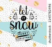 merry christmas. typography....   Shutterstock .eps vector #1145782496