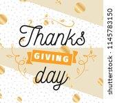 thanksgiving day. logo  text... | Shutterstock .eps vector #1145783150