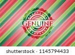 genuine christmas style badge.. | Shutterstock .eps vector #1145794433