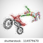 abstract biker from circles.... | Shutterstock .eps vector #114579670