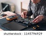 technology microelectronics... | Shutterstock . vector #1145796929