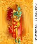 vector design of lord krishna... | Shutterstock .eps vector #1145801540