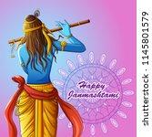 vector design of lord krishna... | Shutterstock .eps vector #1145801579