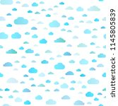 light blue vector seamless... | Shutterstock .eps vector #1145805839