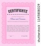 pink certificate template.... | Shutterstock .eps vector #1145808329