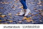 shoes and fashion clothes.... | Shutterstock . vector #1145810510