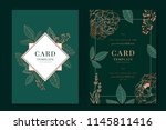 greenery greeting invitation... | Shutterstock .eps vector #1145811416