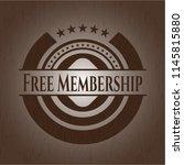 free membership wood emblem.... | Shutterstock .eps vector #1145815880