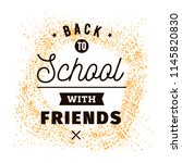 back to school. isolated vector ... | Shutterstock .eps vector #1145820830