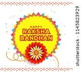 illustration of raksha bandhan... | Shutterstock .eps vector #1145823929