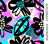 seamless surface pattern floral ... | Shutterstock .eps vector #1145827670