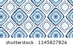 blue geometric seamless pattern ... | Shutterstock .eps vector #1145827826