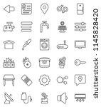 thin line vector icon set  ... | Shutterstock .eps vector #1145828420