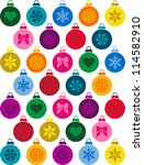 christmas decorations | Shutterstock .eps vector #114582910