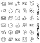 thin line vector icon set  ...   Shutterstock .eps vector #1145829620