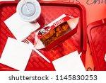 riga  august 2015   kfc  ... | Shutterstock . vector #1145830253