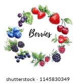modern sketchy watercolor... | Shutterstock . vector #1145830349