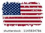 grunge flag of united states... | Shutterstock .eps vector #1145834786