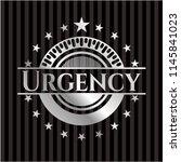 urgency silver emblem or badge | Shutterstock .eps vector #1145841023