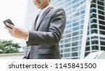 business concept  businessman... | Shutterstock . vector #1145841500