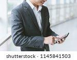 business concept  businessman... | Shutterstock . vector #1145841503