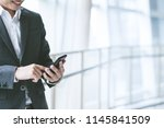 business concept  businessman... | Shutterstock . vector #1145841509