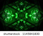 abstract grunge green... | Shutterstock . vector #1145841830