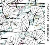 tropical  stripe  animal motif. ...   Shutterstock .eps vector #1145841980