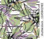 tropical  stripe  animal motif. ...   Shutterstock .eps vector #1145841983