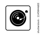 turntable icon vector icon.... | Shutterstock .eps vector #1145844683