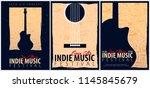 indie music festival. open air. ... | Shutterstock .eps vector #1145845679