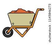 color construction sand inside... | Shutterstock .eps vector #1145846273